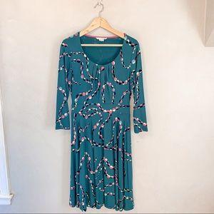 Boden A-Line Jersey Green Dress